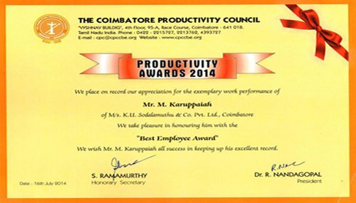 best employee award sodaltech