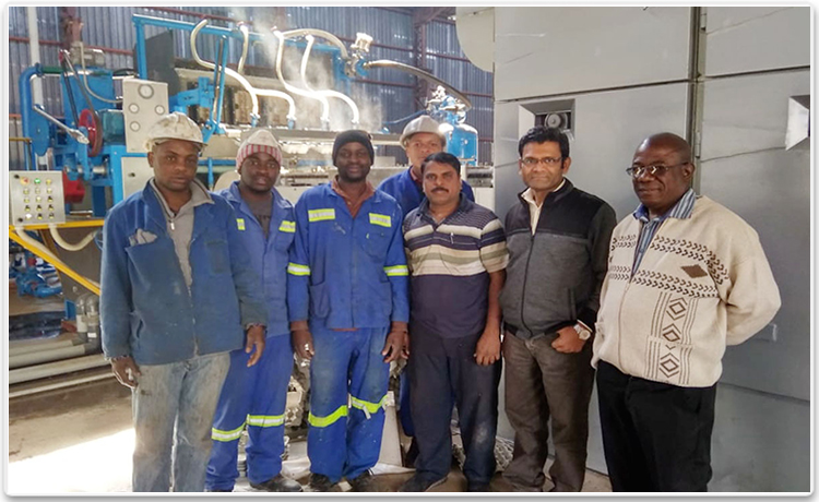 Pulp Moulding Machine Installed Zimbabwe